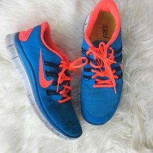Nike Free Mens Sneakers Blue